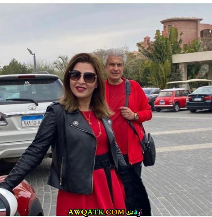 وائل الإبراشي وزوجته
