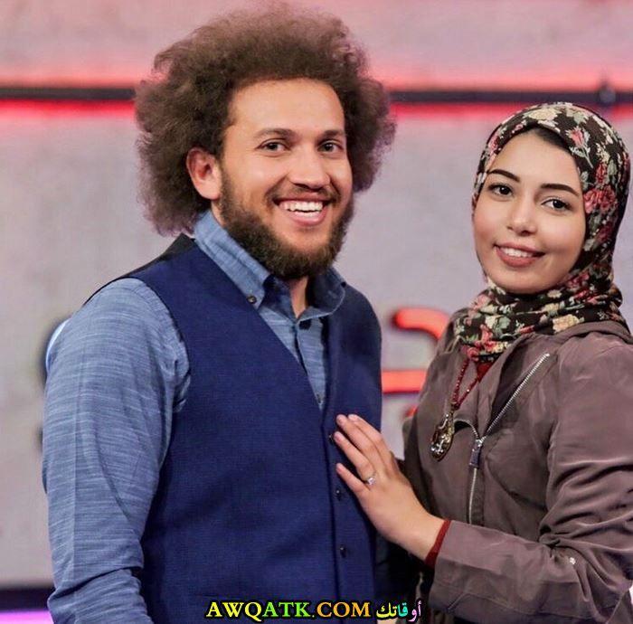 يوسف حسين وزوجته
