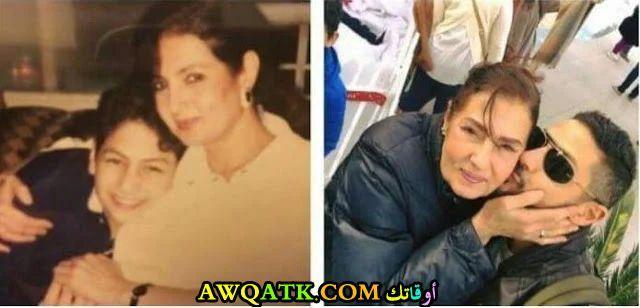 ماجدة عاصم وابنها عمرو سمير