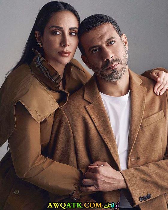 محمد فراج وزوجته بسنت شوقي